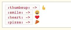 Emoji Shortcodes